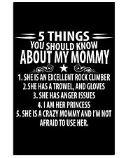 5 THINGS YOU SHOULD KNOW ABOUT MY MOMMY ROCKCLIMB 11x17 Poster thumbnail