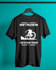 MOUNTAIN BIKING - DON'T FOLLOW ME Classic T-Shirt lifestyle-mens-crewneck-front-3