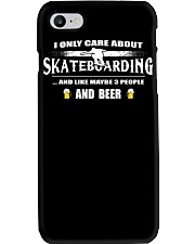 I ONLY CARE ABOUT SKATEBOARDING AND BEER Phone Case thumbnail