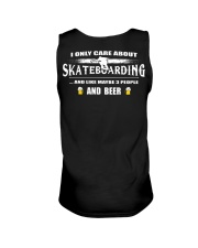 I ONLY CARE ABOUT SKATEBOARDING AND BEER Unisex Tank thumbnail
