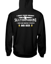 I ONLY CARE ABOUT SKATEBOARDING AND BEER Hooded Sweatshirt thumbnail