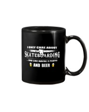 I ONLY CARE ABOUT SKATEBOARDING AND BEER Mug thumbnail