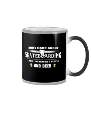 I ONLY CARE ABOUT SKATEBOARDING AND BEER Color Changing Mug thumbnail