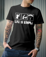 SKYDIVING - LIFE IS SIMPLE Classic T-Shirt lifestyle-mens-crewneck-front-6