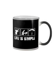 SKYDIVING - LIFE IS SIMPLE Color Changing Mug thumbnail
