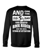 GOD CREATED BMX RIDER Crewneck Sweatshirt thumbnail