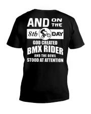 GOD CREATED BMX RIDER V-Neck T-Shirt thumbnail