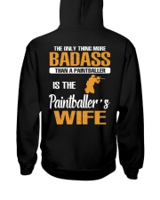 BADASS THAN A PAINTBALLER IS THE PAINTBALER'S WIFE Hooded Sweatshirt thumbnail