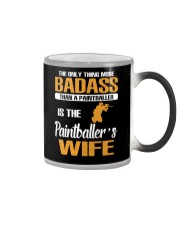 BADASS THAN A PAINTBALLER IS THE PAINTBALER'S WIFE Color Changing Mug thumbnail
