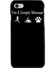 I'M A SIMPLE WOMAN - RUNNING COFFEE DOG Phone Case thumbnail
