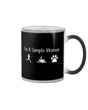 I'M A SIMPLE WOMAN - RUNNING COFFEE DOG Color Changing Mug thumbnail