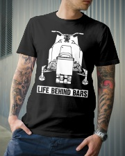 SNOWMOBILE - LIFE BEHIND BARS Classic T-Shirt lifestyle-mens-crewneck-front-6