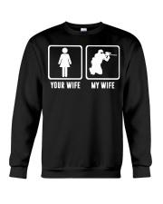 YOUR WIFE MY WIFE LOVE PAINTBALLING Crewneck Sweatshirt thumbnail