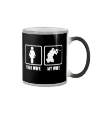 YOUR WIFE MY WIFE LOVE PAINTBALLING Color Changing Mug thumbnail