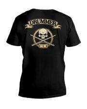 DRUMMER SKULL V-Neck T-Shirt thumbnail