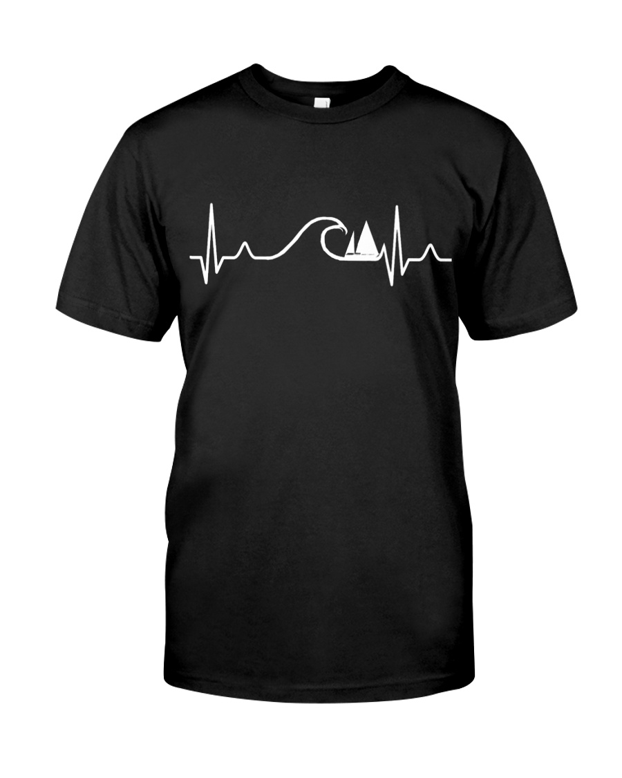 SAILING HEART BEAT AND WAVES Classic T-Shirt