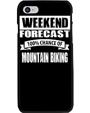 WEEKEND FORECAST 100CHANCE OF MOUNTAIN BIKING Phone Case thumbnail