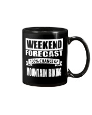 WEEKEND FORECAST 100CHANCE OF MOUNTAIN BIKING Mug thumbnail