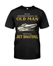 OLD MAN WHO LOVES JET BOATING Classic T-Shirt front