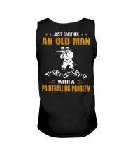 OLD MAN WITH A PAINTBALLING PROBLEM Unisex Tank thumbnail