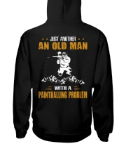 OLD MAN WITH A PAINTBALLING PROBLEM Hooded Sweatshirt thumbnail