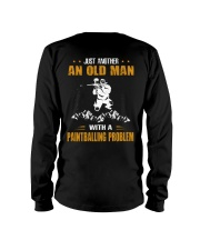 OLD MAN WITH A PAINTBALLING PROBLEM Long Sleeve Tee thumbnail