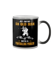 OLD MAN WITH A PAINTBALLING PROBLEM Color Changing Mug thumbnail