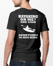 KAYAKING OR ME SHE SAID SOMETIMES I MISS HER Classic T-Shirt lifestyle-mens-crewneck-back-5