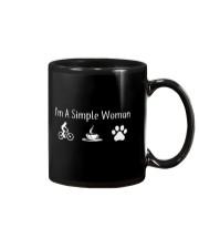 I'M A SIMPLE WOMAN - MOUNTAIN BIKING COFFEE DOG Mug thumbnail