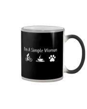 I'M A SIMPLE WOMAN - MOUNTAIN BIKING COFFEE DOG Color Changing Mug thumbnail