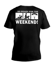 SO READY FOR THE WEEKEND - SKYDIVING V-Neck T-Shirt thumbnail