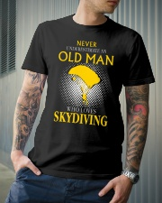 OLD MAN WHO LOVES SKYDIVING Classic T-Shirt lifestyle-mens-crewneck-front-6