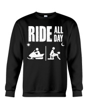 SNOWMOBILING RIDE ALL DAY Crewneck Sweatshirt thumbnail