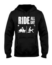 SNOWMOBILING RIDE ALL DAY Hooded Sweatshirt thumbnail