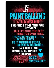 PAINTBALLING IS LIKE SEX 11x17 Poster front