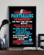 PAINTBALLING IS LIKE SEX 11x17 Poster lifestyle-poster-2