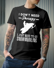 I JUST NEED TO GO SNOWMOBILING Classic T-Shirt lifestyle-mens-crewneck-front-6