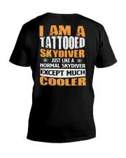 I AM A TATTOOED SKYDIVER V-Neck T-Shirt thumbnail