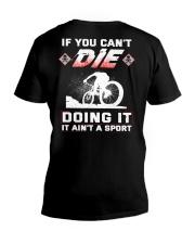 MOUNTAIN BIKING OR DIE V-Neck T-Shirt thumbnail