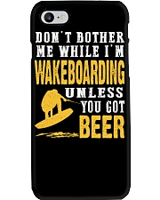 DON'T BOTHER ME WHILE I'M WAKEBOARDING Phone Case thumbnail