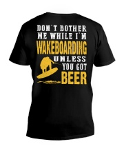 DON'T BOTHER ME WHILE I'M WAKEBOARDING V-Neck T-Shirt thumbnail