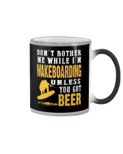 DON'T BOTHER ME WHILE I'M WAKEBOARDING Color Changing Mug thumbnail