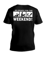 SO READY FOR THE WEEKEND - WATER SKIING V-Neck T-Shirt thumbnail