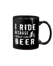 I RIDE BECAUSE I REALLY LIKE BEER Mug thumbnail