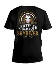 BADASS SKYDIVER V-Neck T-Shirt thumbnail