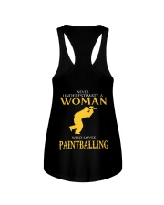 A WOMAN WHO LOVES PAINTBALLING Ladies Flowy Tank thumbnail
