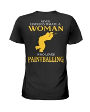 A WOMAN WHO LOVES PAINTBALLING Ladies T-Shirt back