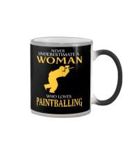 A WOMAN WHO LOVES PAINTBALLING Color Changing Mug thumbnail