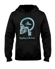 KAYAKING ON THE B-R-A-I-N Hooded Sweatshirt thumbnail