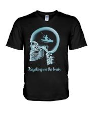 KAYAKING ON THE B-R-A-I-N V-Neck T-Shirt thumbnail